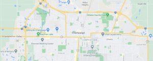 Google map of Champaign Urbana