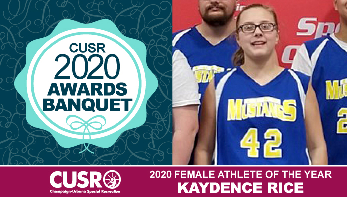 CUSR 2020 Awards Banquet 2020 Female Athlete of the Year: Kaydence Rice