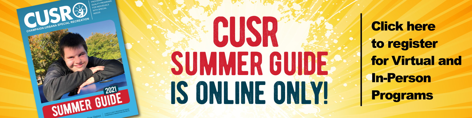 CUSR Summer Guide is Online ONLY! Click Here